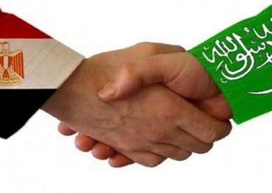 كلنا اخوان في الأزمة العلم المصري مع علم السعودية-عالم الصور