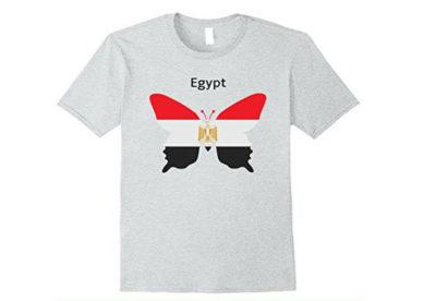 علم مصر على شكل فراشة على قميص Egypt Flag Butterfly On Shirt-عالم الصور