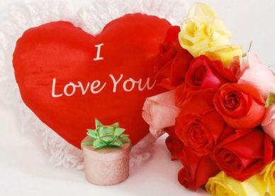 صور ورود حمراء وقلوب مكتوب عليها I Love You -عالم الصور