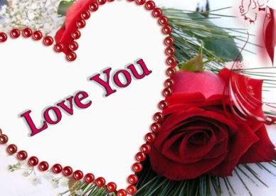 صور ازهار وقلوب حب مكتوب عليها Love You -عالم الصور
