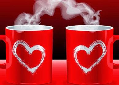 صور قلوب حب على اكواب الشاي -عالم الصور