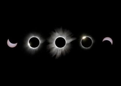 صور شرح مراحل كسوف الشمس الكلي -عالم الصور