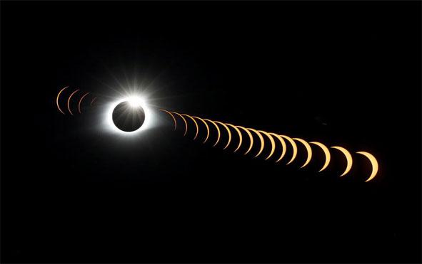 صور رائعة اثناء مراحل كسوف الشمس الكلي -عالم الصور