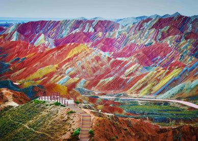 صور خلفيات أغرب الجبال الملونة حول العالم -عالم الصور