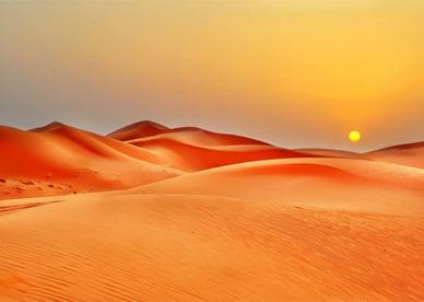 بالصور جمال وسحر الصحراء عند الغروب Desert Beauty And Sunset- عالم الصور