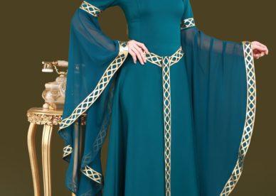 أجمل موديلات فساتين نساء محجبات جديدة-عالم الصور
